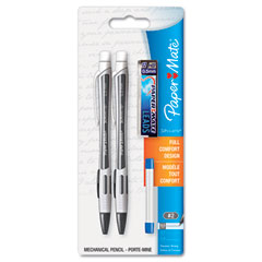 Papermate 1759797 Silhouette Mechanical Pencil, Black, 2 Per Set