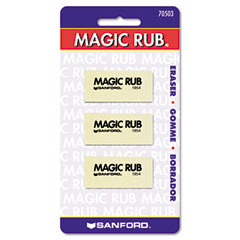 Sanford Ink 70503 Magic Rub Art Eraser, Vinyl, 3/Pack