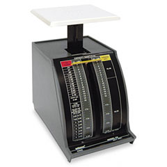 Pelouze PELX2 Standard Mechanical Mailroom Scale, 2lb Capacity, 3-3/4 x 3-1/4 Platform