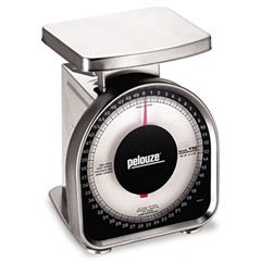 Dymo by pelouze - heavy-duty mechanical package scale, 50lb capacity, 6 x 4-3/4 platform, sold as 1 ea