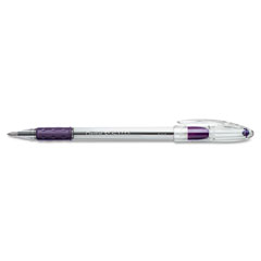 Pentel - r.s.v.p. ballpoint stick pen, violet ink, fine, dozen, sold as 1 dz