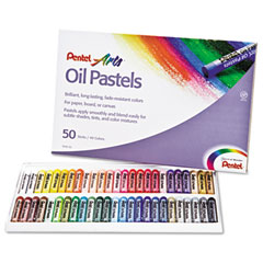 Pentel - oil pastel set with carrying case,45-color set, assorted, 50/set, sold as 1 st