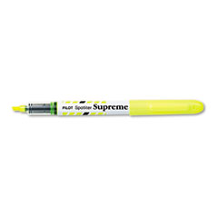 Pilot 16008 Spotliter Supreme Highlighter, Chisel Tip, Fluorescent Yellow Ink, 12/Pk