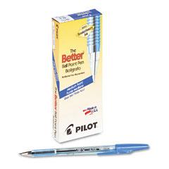 Pilot 36711 Better Ballpoint Stick Pen, Blue Ink, Medium, Dozen