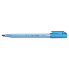 Pilot 47011 Spotliter Highlighter, Chisel Point, Pocket Clip, Fluorescent Blue, 12/Pk