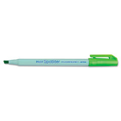 Pilot 48011 Spotliter Highlighter, Chisel Point, Pocket Clip, Fluorescent Green, 12/Pk