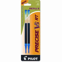 Pilot - refill for precise v5 rt rolling ball, extra fine, blue ink, 2/pack, sold as 1 pk
