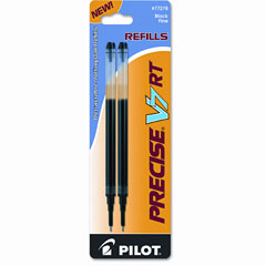 Pilot - refill for precise v5 rt rolling ball, fine black ink, 2/pack, sold as 1 pk