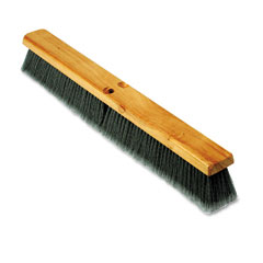 "Proline PLB20424 Floor Brush Head, 3"" Gray Flagged Polypropylene, 24"""