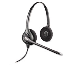 Plantronics - supraplus over-head cord telephone wideband headset, sold as 1 ea