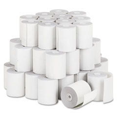 "Accufax 04302 Paper Rolls, Teller Window/Financial Roll, 3"" X 140 Ft, White, 50/Carton"