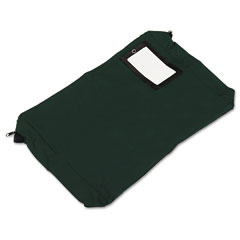 Pm company - expandable dark green transit sack, 18w x 4d x 14h, sold as 1 ea