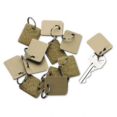 Securit - extra blank velcro tags, velcro security-backed, 1-1/8 x 1, beige, 12/pack, sold as 1 pk