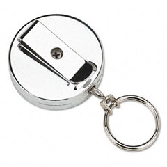 Accufax 04990 Pull Key Reel Wearable Key Organizer, Stainless Steel