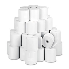 "Accufax 05479 Paper Rolls, One-Ply Teller Window/Financial, 3"" X 150 Ft, White, 50/Carton"