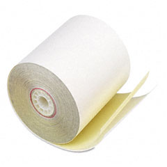 "Accufax 07706 Paper Rolls, Two-Ply Receipt Rolls, 3"" X 90 Ft, White/Canary, 50/Carton"