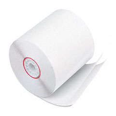 "Accufax 07832 Paper Rolls, Two-Ply Receipt Rolls, 3"" X 90 Ft, White/White, 50/Carton"