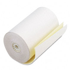"Accufax 08785 Two-Ply Receipt Rolls, 4-1/2"" X 90 Ft, White/Canary, 24/Carton"