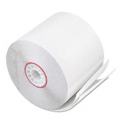 "Accufax 08801 Paper Rolls, Two-Ply Receipt Rolls, 2-1/4"" X 90 Ft, White/White, 50/Carton"
