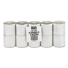 "Accufax 09325 Paper Rolls, Credit Verification, 2-1/4"" X 70 Ft, White/Canary, 10/Pack"
