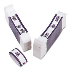 Accufax 55026 Color-Coded Kraft Currency Straps, Dollar Bill, $50, Self-Adhesive, 1000/Pack