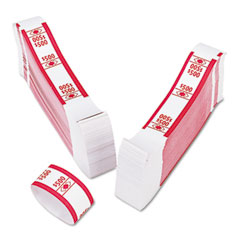Accufax 55030 Color-Coded Kraft Currency Straps, $5 Bill, $500, Self-Adhesive, 1000/Pack