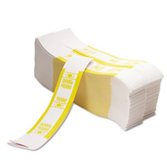 Pm company - color-coded kraft currency straps, $10 bill, $1000, self-adhesive, 1000/pack, sold as 1 pk