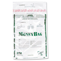 Accufax 58019 Biodegradable Plastic Money Bags, Tamper Evident, 9 X 12, Clear, 50/Pack