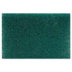Lagasse 186 Heavy Duty Scour Pad, Green, 6 X 9, 15/Carton