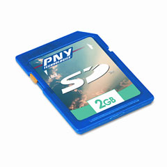Pny Tech PNYPSD2GBEF Secure Digital Flash Card, 2GB