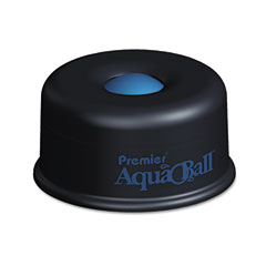 Premier - aquaball floating ball envelope moistener, 1 1/4-inch x 1 1/4-inch x 5 3/8-inch, black, blue, sold as 1 ea