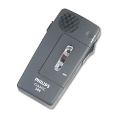 Philips - pocket memo 388 slide switch mini cassette dictation recorder, sold as 1 ea
