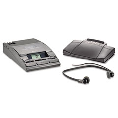 Philips - 720-t desktop analog mini cassette transcriber dictation system w/foot control, sold as 1 ea