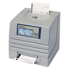 Pyramid 4000 4000 Totalizing Digital Automatic Payroll Time Recorder, Gray