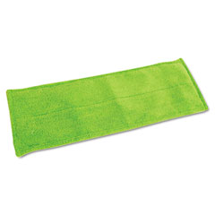 QCK 0624 Green Cleaning Hardwood Floor Mop Refill, Microfiber, Green, Each