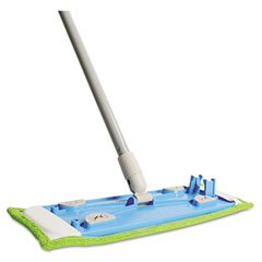 "QCK 062 Microfiber Hardwood Floor Mop, 48"" Handle, Green, Each"