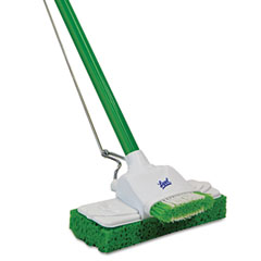 Quickie - lysol sponge mop, 9-inch, 48-inch steel handle, sold as 1 ea