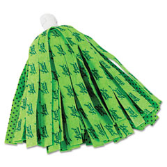 Quickie - self wringing mop head refill, 11-inch, green, sold as 1 ea