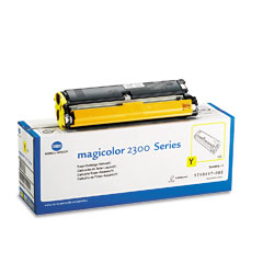 Konica 1710517002 1710517002 Toner, 1500 Page-Yield, Yellow