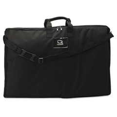 Quartet - tabletop display carrying case, canvas, 18 1/2w x 2.3/4d x 30h, black, sold as 1 ea