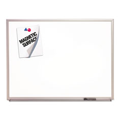 Quartet - magnetic dry-erase board, porcelain, 36 x 24, white, aluminum frame, sold as 1 ea