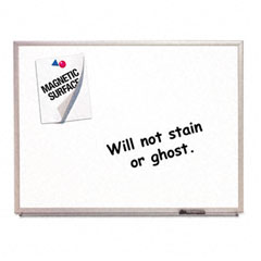 Quartet - magnetic dry-erase board, porcelain, 48 x 36, white, aluminum frame, sold as 1 ea