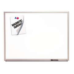 Quartet - magnetic dry-erase board, porcelain, 60 x 36, white, aluminum frame, sold as 1 ea