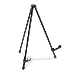 "Quartet 28E Tabletop Instant Easel, 14"" High, Steel, Black"