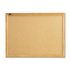 Quartet - cork bulletin board, cork over fiberboard, 24 x 18, natural oak frame, sold as 1 ea