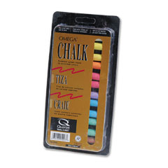 Quartet - omega colored chalk, low dust, assorted colors, 12 sticks/pack, sold as 1 pk