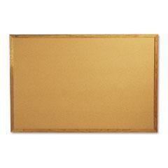 Quartet - bulletin board, natural cork over fiberboard, 72 x 48, solid oak frame, sold as 1 ea