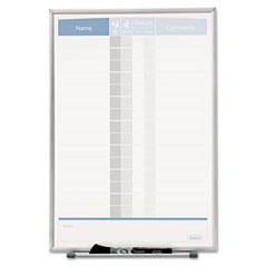 Quartet - matrix employee tracking board, 11 x 16, sold as 1 ea
