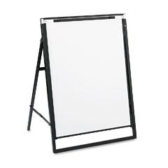 Quartet - futura dry erase presentation easel, melamine, 24 x 36, white, black frame, sold as 1 ea