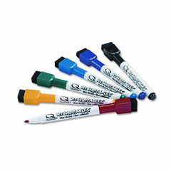 Quartet 51-659312 Rewritables Dry Erase Mini-Markers, Fine Point, Six Colors, 6/Set